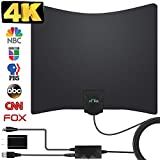 HDTV Antenna, 2019 New Indoor Digital TV Antenna 130 Miles Range with Amplifier Signal Booster 4K Free Local Channels Support All Television,17ft Coax Cable