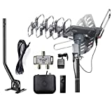 McDuory Outdoor Amplified Digital Antenna 150 Mile HDTV Antenna - 360 Degree Rotation with...