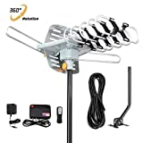 Outdoor TV Antenna 150 Miles Amplified Digital HDTV Antenna with 360°Rotation,Wireless...