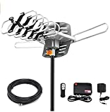 Ematic EDT312ANT HD 1080p Motorized Rotating Outdoor Amplified TV Antenna...