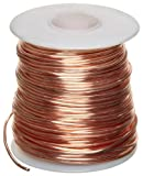 Bare Copper Wire, Bright, 14 AWG, 0.064' Diameter, 80' Length (Pack of 1)