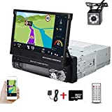 Hikity Single Din Car Stereo 7 Inch Touch Screen Radio with GPS Navigation Supports...