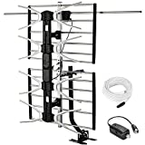 PBD Outdoor Digital HD TV Antenna with High Gain Amplifier 150 Mile Long Range for...