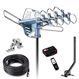 2019UPDATED-150 Miles-Amplified Outdoor TV Antenna-4K/1080p High Reception+40FT RG6...