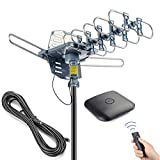 PBD Outdoor Digital HD TV Antenna 150 Miles Motorized 360 Degree Rotation with 40FT RG6...