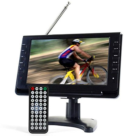 "Tyler TTV702 9"" Portable Rechargeable Digital LCD TV with detachable Antennas"